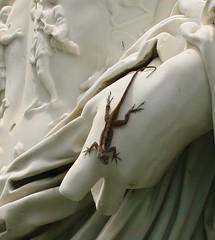 Ceasars pet (ktmqi) Tags: sculpture statue florida roman lizard sarasota ringlingmuseum juliusceasar classicsculpture cad'zan
