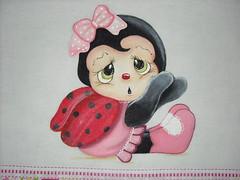 Pano de prato joaninha baby (Pintura em tecido. Panos de prato.) Tags: pinturacountry panosdeprato panodecopa