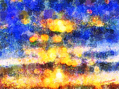 Watching Rome Burn (Steve Taylor (Photography) Internet V slow) Tags: blue italy orange abstract rome yellow fire roman flames watching bluesky burn inferno explosions nero arson embers ablaze onfire alight motes afire whileromeburned greatfireofrome magnumincendiumromae