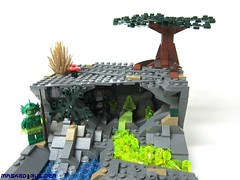 The Cave (Masked Builder) Tags: landscape lego contest 8 series collectable moc vig minifigures