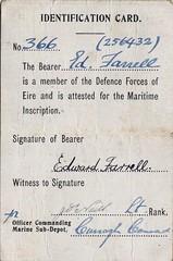 Maritime inscription Identification card (ofarrl) Tags: ireland irish waterford worldwar2 oglaighnaheireann theemergency navalreserve defenceforces maritimeinscription curraghcommand