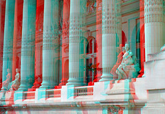 Grand Palais Paris 3D (wim hoppenbrouwers) Tags: paris 3d anaglyph stereo parijs colonnade grandpalais redcyan