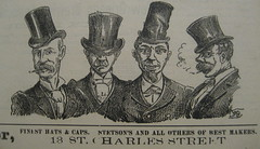 Finest Hats Ad Mascot 10 Sept 1892 (Infrogmation) Tags: ads advertising scans neworleans hats tophat advertisements 1890s 1892