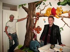 Winnie de Pooh mural (Bisytes Murals) Tags: bear friends baby holland tree art love me beautiful kids painting fun us amazing cool bedroom mural paint artist play arty teddy room arts murals wallart disney honey pooh artists tigger piglet winnie eeyore winniedepooh