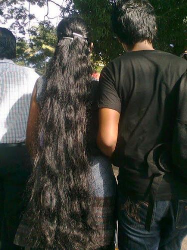 Loose Open Long Hair Styles By Kerala Women A Photo On Flickriver