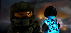 Halo 4 - A.I.s Deteriorate After Seven (MGF Customs/Reviews) Tags: lego chief 4 halo master requiem cortana forerunner reclaimer promethean