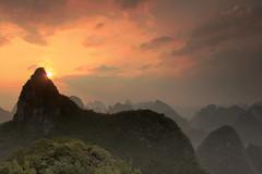 Pressure and Time (craigkass) Tags: china travel sunset mountains yangshuo karst guangxi moonhill limestonekarst
