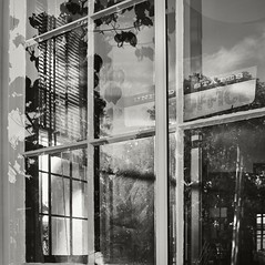 Post Office Window (frntprchprss) Tags: blackandwhite window reflections postoffice jamesgehrt