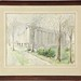 183. Original Archictural Watercolor by Frances K. Buell