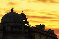 Sky on Fire (Simon Giddings) Tags: autumn sunset sky orange silhouette yellow skyline evening bath rooftops