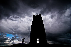 Glastonbury - Dramatic Clouds - 09-26-12 (mosley.brian) Tags: england tower unitedkingdom glastonbury tor glastonburytor thetor isleofavalon