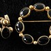 245. Gold Fill & Onyx Brooch & Earrings