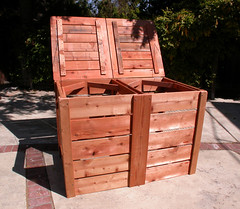 "2-Bin Montessori Compost Bin - tops open • <a style=""font-size:0.8em;"" href=""https://www.flickr.com/photos/87478652@N08/8048001312/"" target=""_blank"">View on Flickr</a>"