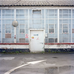 Spode (nmi) Tags: door windows england color reflection 6x6 rolleiflex mirror day trent medium format left portra stoke potters