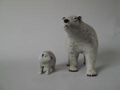 with a baby Polar bear (danahaneunjeong) Tags: bear ceramic doll polar