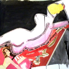 Katarina, constructed female (PaulHelen2009) Tags: life woman abstract art collage female painting nude artwork artist drawing fine study helen expressionist watercolour colourful matisse gorrill