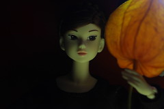 Chinese lantern 1 (Girl Number 11) Tags: autumn red orange black fashion toy doll dress chinese clothes plastic mina lantern sonata sekiguchi orions momoko petworks sixthscale 6thscale