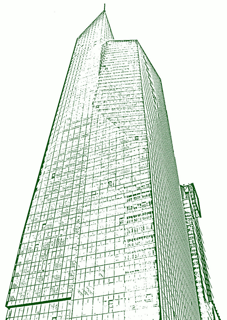 Bank Of America Tower Sketch Dockdrumming Tags Nyc Newyorkcity Newyork Building Illustration Skyscraper