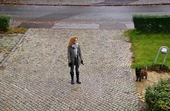 Tina and Otto (osto) Tags: woman dog chien pet animal cane denmark europa europe sony hond perro terrier zealand otto pies tina dslr scandinavia danmark cairnterrier a300 kpek sjlland  osto alpha300 osto october2012