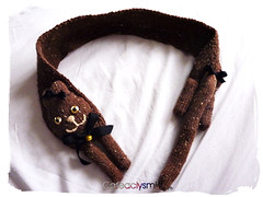 Brown Kitty Cat Scarf ( Cateaclysmic ) Tags: scarf cat vintage handmade crafts kitty etsy knitted