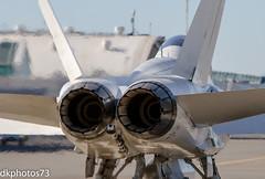 Hornet Power (dkuttel) Tags: canon portland aviation military navy jet pdx marines hornet ge miramar fbo generalelectric 70200f28 mcdonneldouglas fa18b portlandinternationalairport navyaviation atlanticaviation canon7d