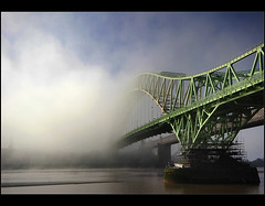 More........ (Chrisconphoto) Tags: bridge mist dawn mood drama runcorn merseyside widnes thefog intonothing