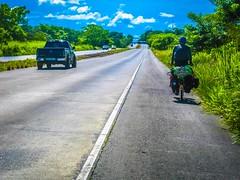 Cycling uphill into Panama.