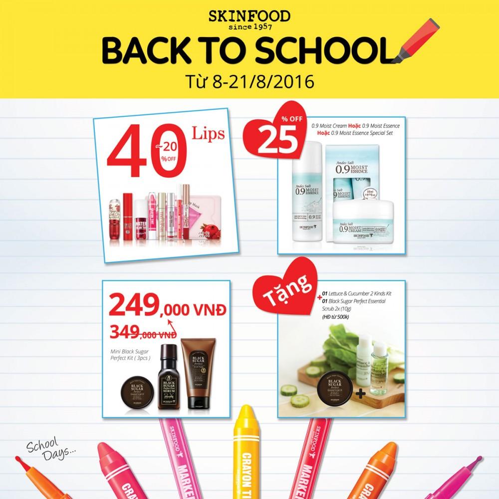 BACK TO SCHOOL - 8/08 đến 21/08