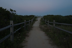 (Pay No Mind) Tags: new jersey stone harbor beach sand path fence dusk sunset bluehour