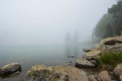 Les Laquettes - Rserve du Nouvielle (klarys_) Tags: water fog mountains montagne pyrnes lac brouillard extrieur rock rochers explore