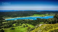 Vue du Pic de l'Aigle (Jean McLane) Tags: jura france lake clouds cloudy nuages nubes sky bleue blue landscape lac lago picdelaigle lakeview