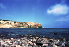 Abalone Cove (gpot97) Tags: beach landscape coast seaside outdoor shore ocean water sea film analog kodak 2254 canon ae1 ae1p palos verdes abalone cove nature reserve natural rocks