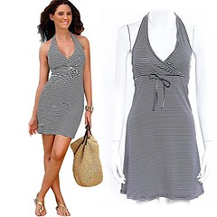 Wensltd Clearance!1 Pc Womens Striped Pattern Halter Hot Dress (M) (couponrainbow) Tags: clearance1 dress halter pattern striped wensltd womens