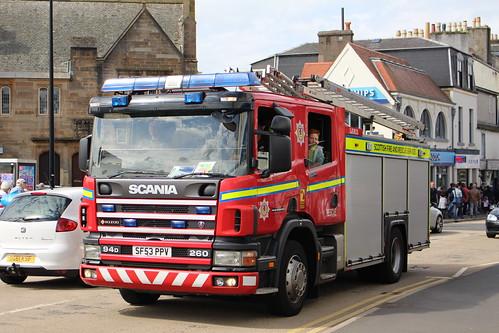 LARGS SF53 PPV SCANIA 94D SAXON SCOTTISH FIRE AND RESCUE SERVICE