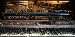 1925 Cable (Theaterwiz) Tags: piano urbex abandoned abandonedpittsburgh theaterwiz michaelcriswellphotography pianokeys decay forgotten
