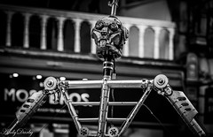 Robot-2 (Andy Darby) Tags: chester street streetphotography streetview busker juggler fire fireeater artist robot