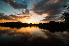 Carr Mill Dam at sunset (ianbonnell) Tags: carrmilldam sthelens merseyside lancashire sunset england