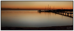 After the Sun Goes Down (juliewilliams11) Tags: photoborder jetty serene outdoor dusk sunset silhouette muted soft waterfront beach water newsouthwales australia sand canon 70d