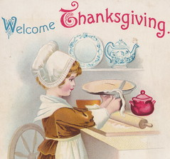 """ELLEN CLAPSADDLE 1916 BUSY HAND at THANKSGIVING make for a Happy Heart and bring Health and WEATH Card 1817 Internationa Art Card Cute Apple Pie making Colonist1 (UpNorth Memories - Donald (Don) Harrison) Tags: vintage antique postcard rppc """"don harrison"""" """"upnorth memories"""" upnorth memories upnorthmemories michigan history heritage travel tourism """"michigan roadside restaurants cafes motels hotels """"tourist stops"""" """"travel trailer parks"""" campgrounds cottages cabins """"roadside entertainment"""" """"natural wonders"""" attractions usa puremichigan"""