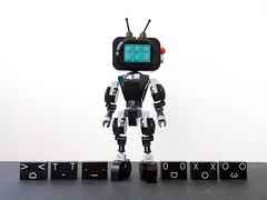 YESman (minor change) (Alex Kelley) Tags: lego moc robot toy design action figure mech mecha yesman