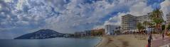 Playa de Santa Eulalia (juantiagues) Tags: playa santaeulalia ibiza nubes mar juantiagues juanmejuto