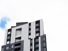 Direction cleste / Towards Heaven (loupbrun) Tags: architecture montreal city urban condos condominium white blanc urbain fentres windows griffintown sky ciel