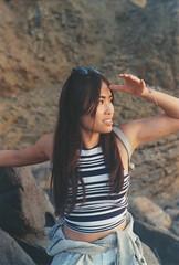 Jackie (cananaleon) Tags: sunset sunsetcliffs sandiego portrait 50mm minolta kodak