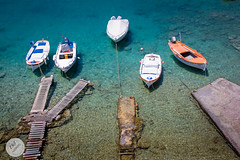 Mandrakia - Milos, Greece - July 2016 (ESTjustPHOTO - Elias S Tilavgi) Tags: little village fishing boats blue sea landscape color milos mandrakia greece 2016