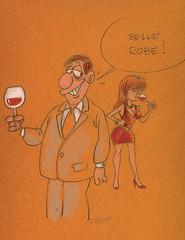 Belle robe (delvallefr) Tags: vin houmour bd bande dessinee dessine vino wine delvall robe jupe femme sexy rouge