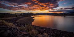 Sunset at Prosser Creek Reservoir (prayforsnow) Tags: truckee landscape nothdr prosserreservoir prosserdamroad dam sunset horizon dusk clouds shoreline