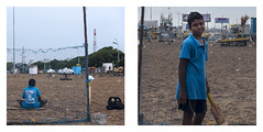 Yogesh - Budding Cricketer (Vilvesh) Tags: chennaiweekendclickers cwc marina marinabeach life people nikon nikond750 nikon24120 boy cricketer