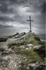 The Cross on the Summit (Neillwphoto) Tags: benledi hill rocks clouds stormy cross memorial trossachs summit landscape