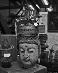 Buddah (antaver) Tags: buddah religious figure antiquestore canneryrowantiquemall monterey california blackandwhite photo great classic