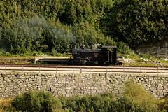 Zahnrad Dampflokomotive HG 3/4 9 mit Taufname Gletschhorn der DFB Dampfbahn Furka Bergstrecke ( Baujahr 1914 - Hersteller SLM Nr. 2419 - Ex Brig - Furka - Disentis - Bahn BFD - Lokomotive Dampflok ) am Bahnhof Gletsch im Kanton Wallis - Valais der Schweiz (chrchr_75) Tags: albumzzz201609september christoph hurni chriguhurni chrchr75 chriguhurnibluemailch september 2016 dfb dampfbahn furka bergstrecke albumbahnenderschweiz eisenbahn bahn train treno zug schweiz suisse switzerland svizzera swiss schweizer bahnen albumbahnenderschweiz2016712 suissa albumbahndfbdampfbahnfurkabergstreckedfb alpen alps alpenbahn schmalspur meterspur museumsbahn hurni160910 juna zoug trainen tog tren  lokomotive  locomotora lok lokomotiv locomotief locomotiva locomotive railway rautatie chemin de fer ferrovia  spoorweg  centralstation ferroviaria